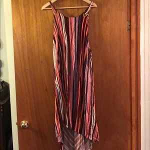 Ava & Viv striped hi-lo tie dress